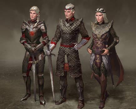 Visenya, Aegon, Rhaenys Targaryen