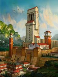 Valley Citadel by AndrewRyanArt