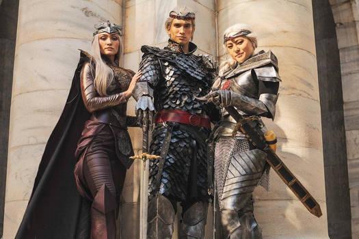 Aegon, Visenya, Rhaenys cosplay