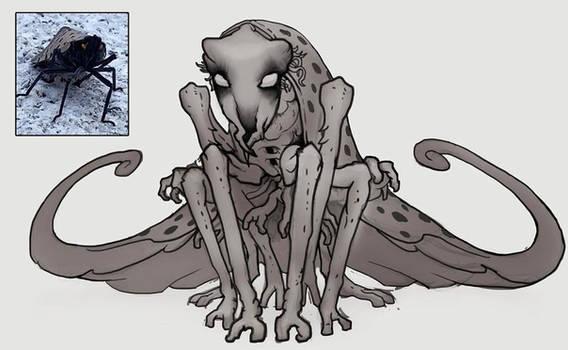Stink Bug? Inspired character sketch - digital
