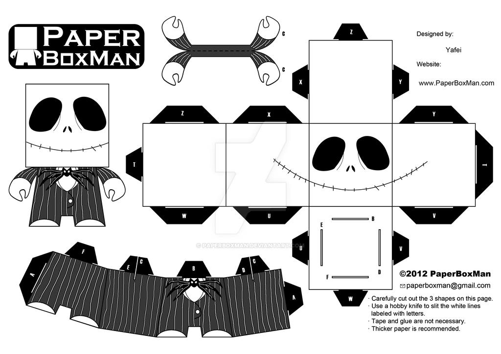 Jack Skeleton Para Colorear: Jack Skellington By Paperboxman On
