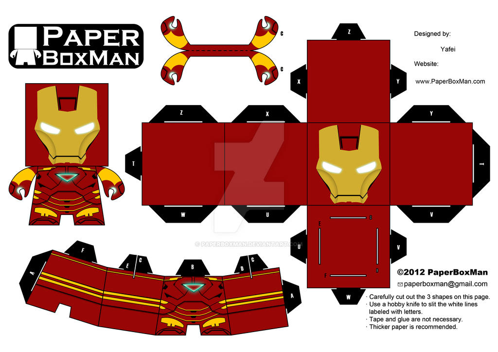 Paperboxman 007 Iron Man By Paperboxman On Deviantart