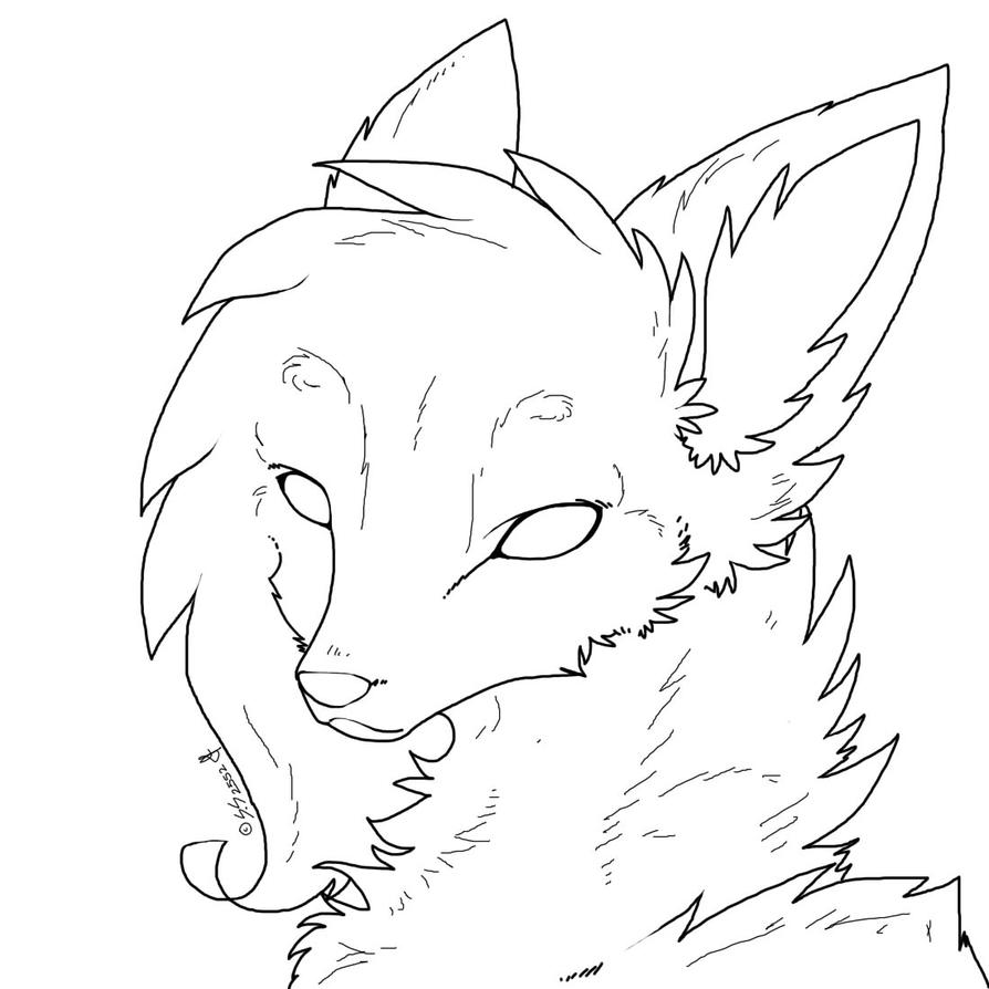 template of a fox - stable coloring page coloring pages
