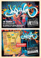 PartyOn Flyer by vega0ne