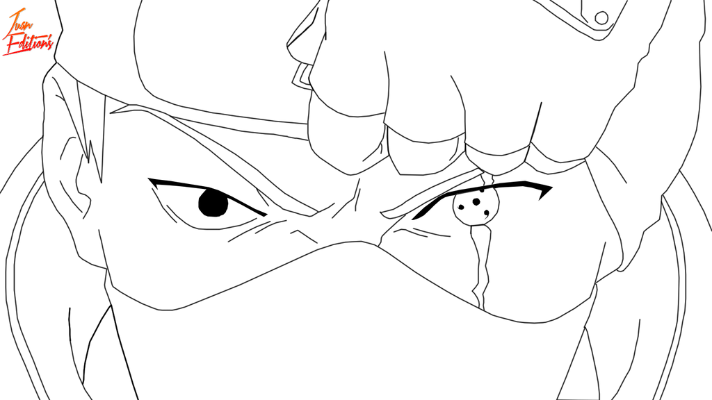 Kakashi Lineart : Lineart de kakashi hatake by juan edition on deviantart
