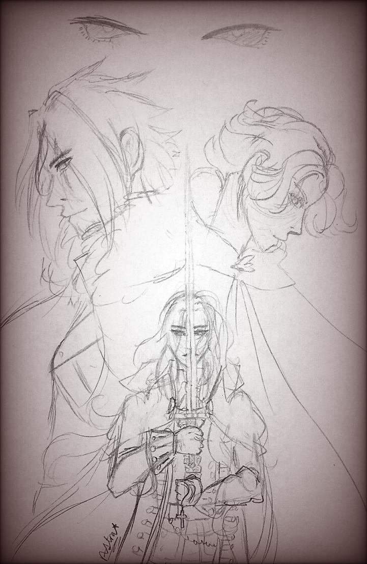 sketch - castlevania by astra-magicka