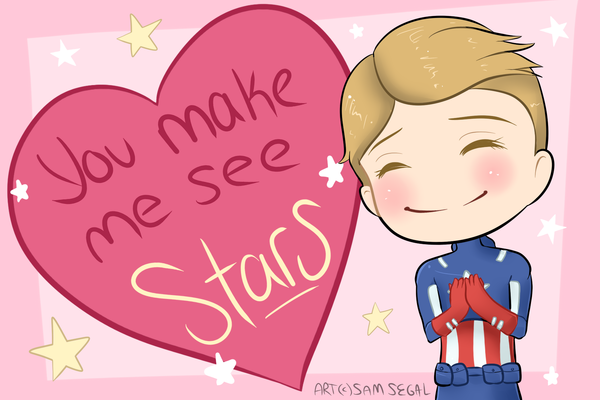VDay Card - Captain America by RingoYan