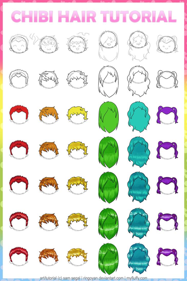 tutorial chibi anime hair by ringoyan on deviantart