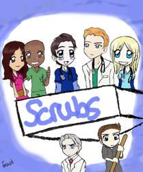 Scrubs Chibi Group Picture by Graffiti2DMyHeart