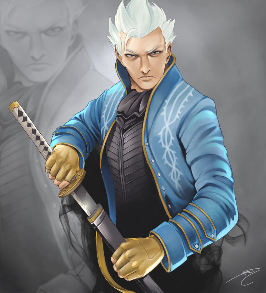 Vergil devil may cry 3 by gothicmalam91