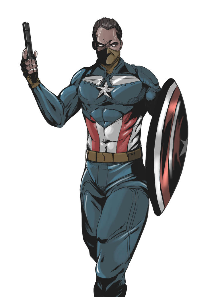 SUPER BIONIC CAPTAIN AMERICA by gothicmalam91