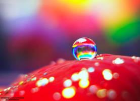 rainbow drop by lindahabiba