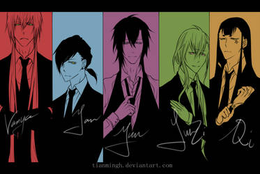 OC: Mafia x Host x Butler by minghii
