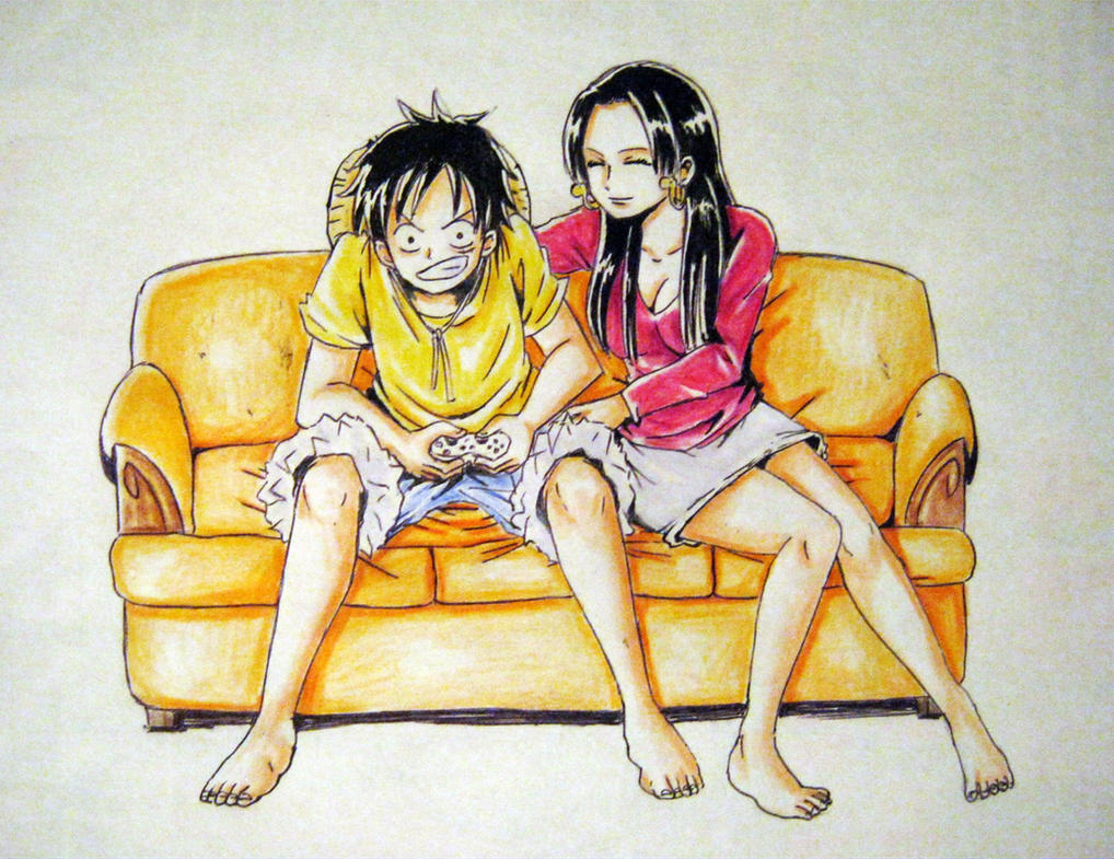 Luffy boa by xchokoxotakux on deviantart - One piece luffy x hancock ...