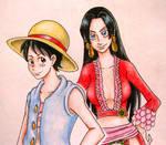 Luffy X Boa