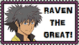 Raven the Great stamp - small by MrsNox