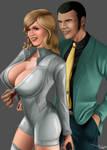 Commission: Fujiko Mine and Arsene Lupin III