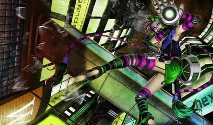 Cyberpunk Jinx by iurypadilha