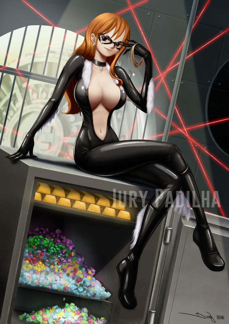Commission: Nami as Black Cat by iurypadilha