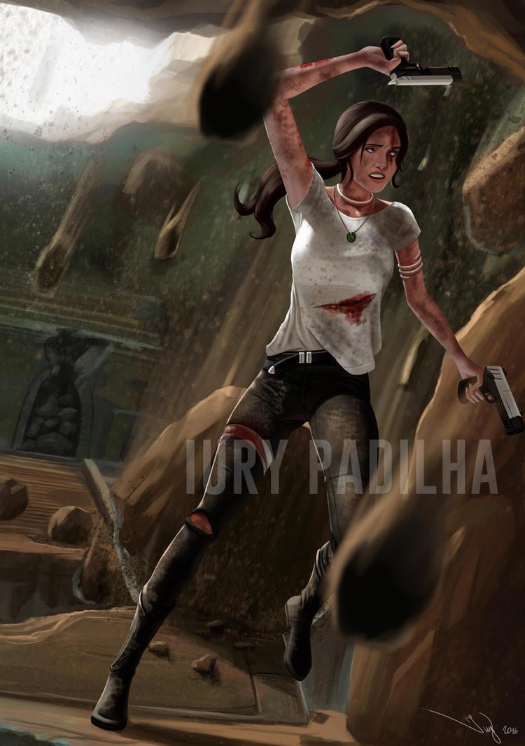 Commission: Lara Croft by iurypadilha