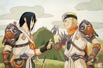 Naruto and Sasuke / Genji and Hanzo