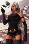 Overwatch Nier Crossover: A2 Pharah n Pod Bastion