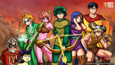 Boku No Hero x Dungeons and Dragons crossover