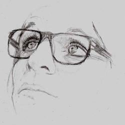 Brian Molko mini sketch by soundscenario