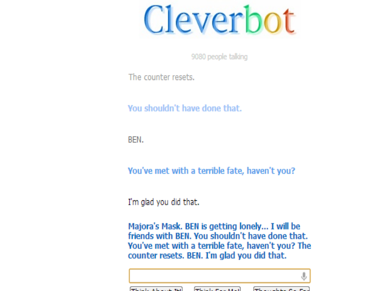 Cleverbot chat about BEN by Spring-Haze on DeviantArt