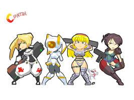 Contra Girls by kurohaneco