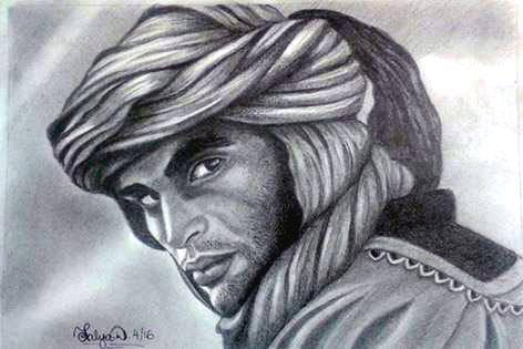 Portrait of Moroccan Berber by Talya Dunleavy by TalyaDunleavyArtist