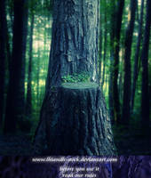 premade001 forest by Lhiandh-stock