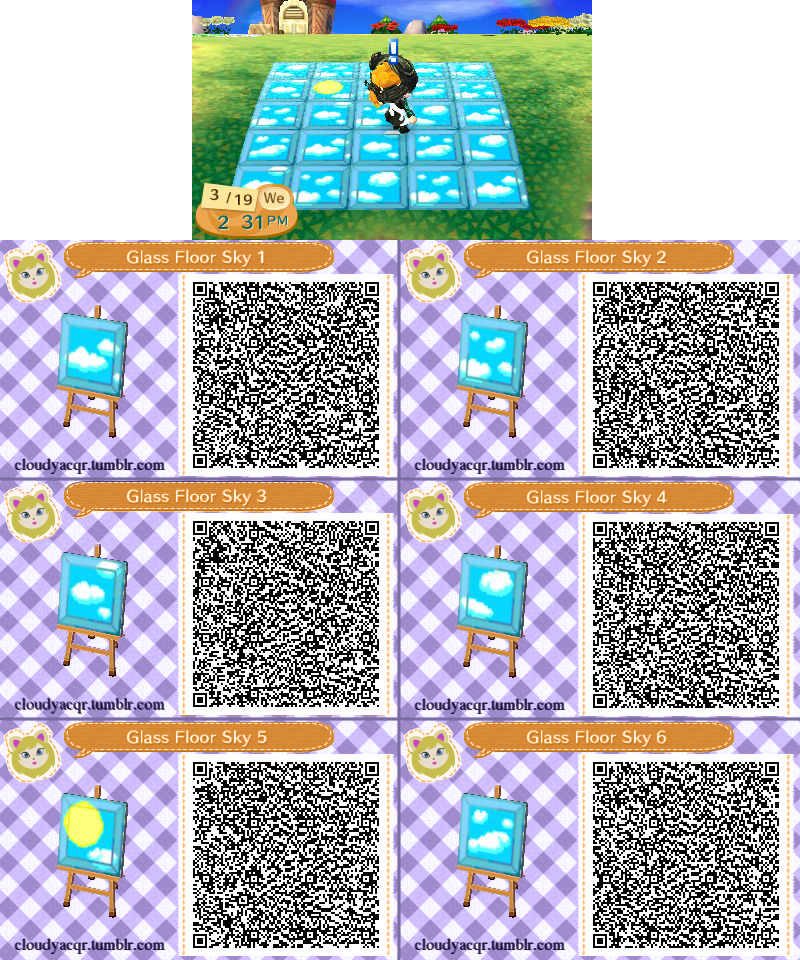 Animal Crossing Qr Glass Floor Sky 1 By Cloudyrei On Deviantart