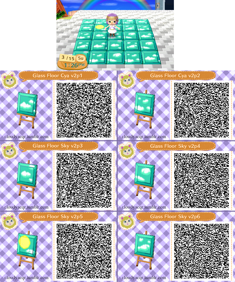 Animal Crossing Qr Glass Floor Sky 2 By Cloudyrei On