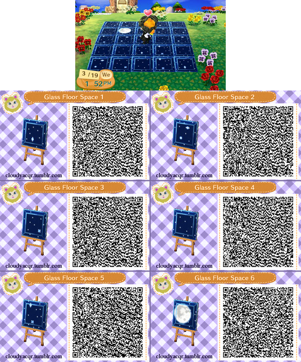 Animal Crossing Qr Glass Floor Space 1 By Cloudyrei On