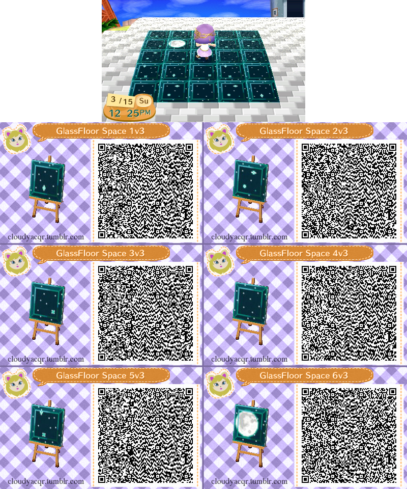 Animal crossing qr glass floor space 3 by cloudyrei on for Floor qr codes new leaf