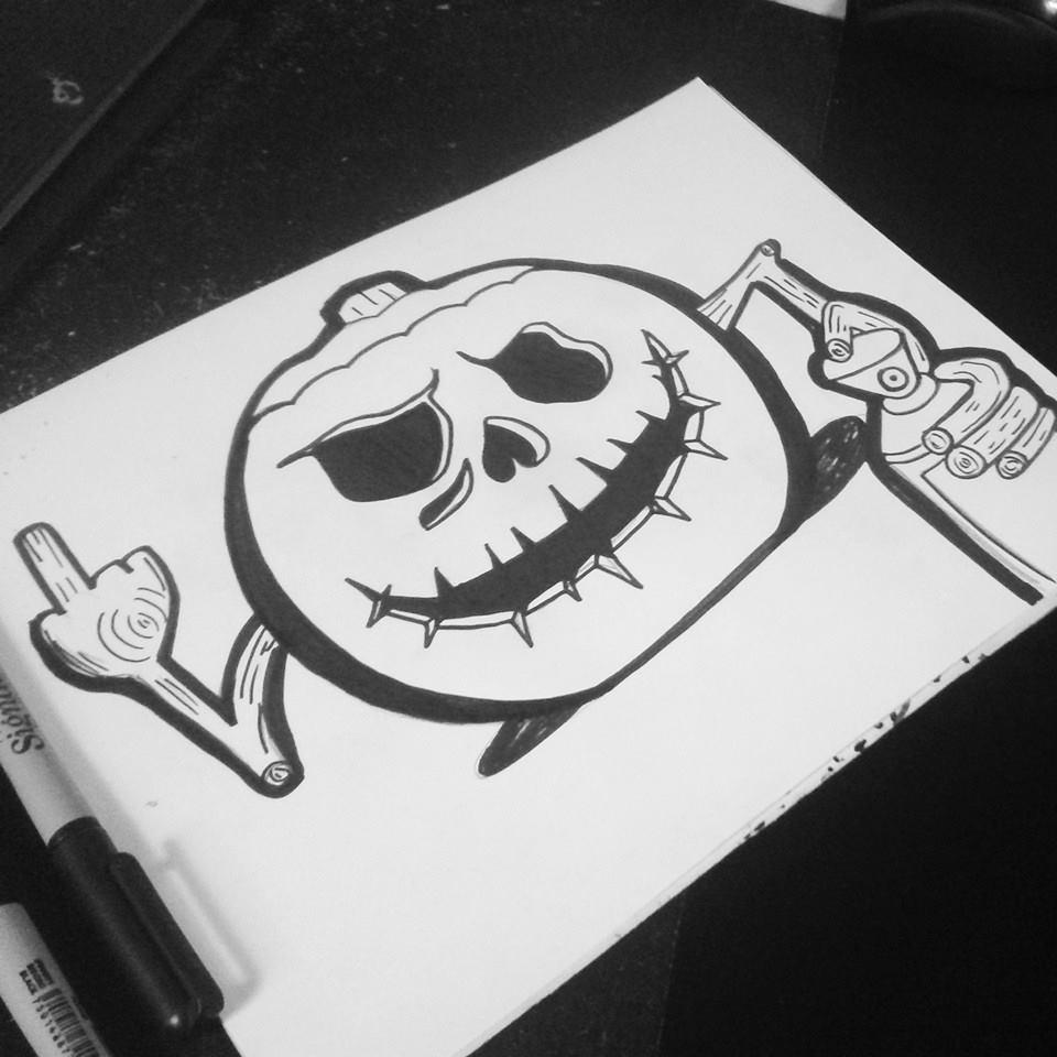 byZaXx 0 0 Halloween Chatacter Graffiti
