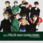 [PNGset14] EXO's 2014 official calendar - PART3