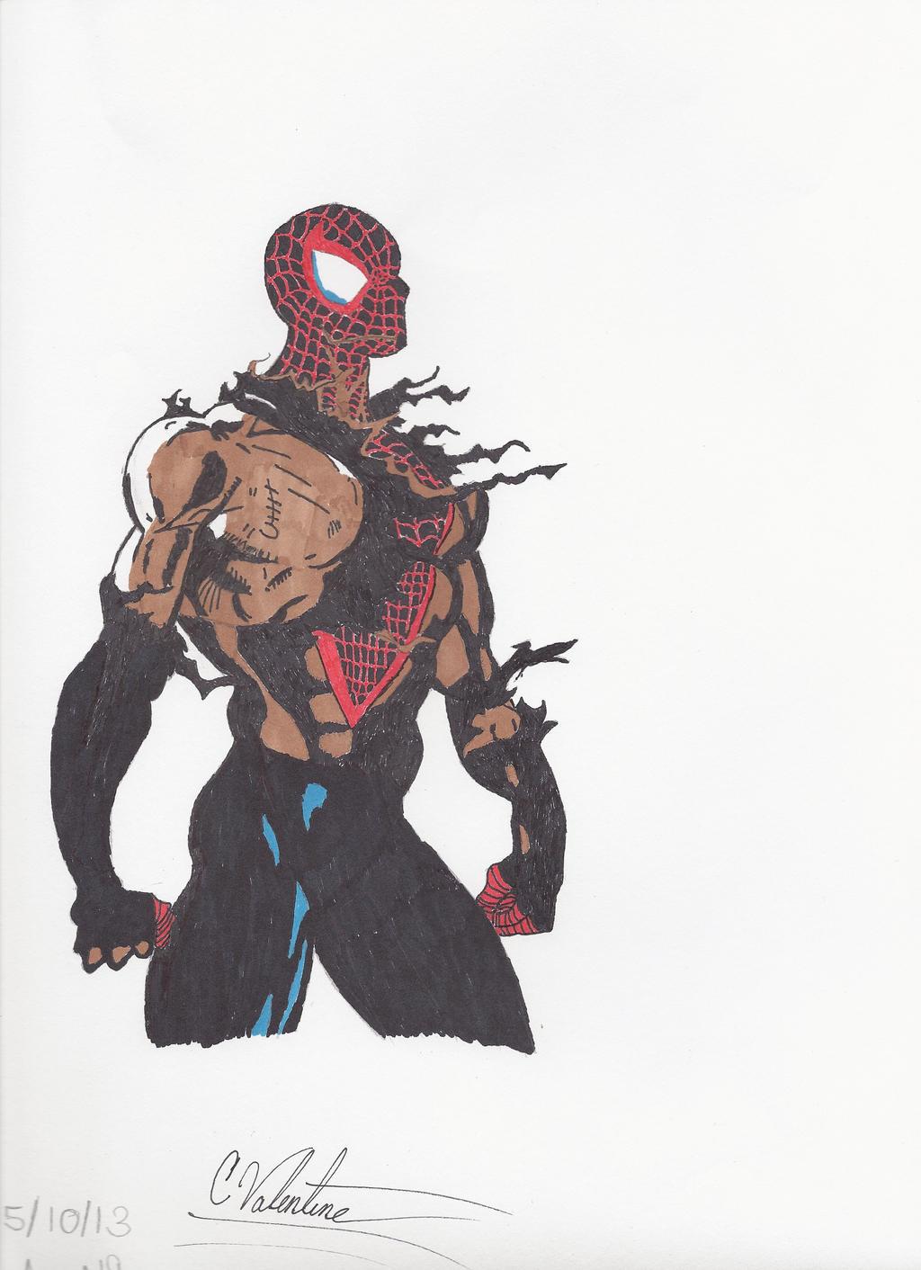 spider man miles morales battle damage by colelightning on deviantart