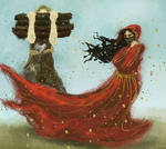 Tuor and an Easterling girl by volnaib