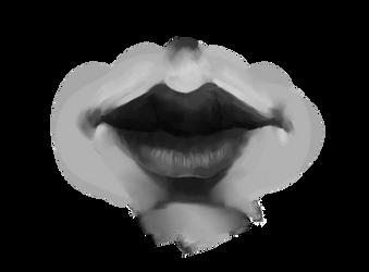 Sketchbruary 01 - Lips Study by volnaib