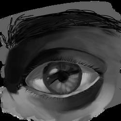 Sketchbruary 04 - Eye Study by volnaib