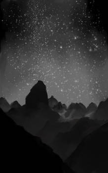 Sketchbruary 10 - Mountains study