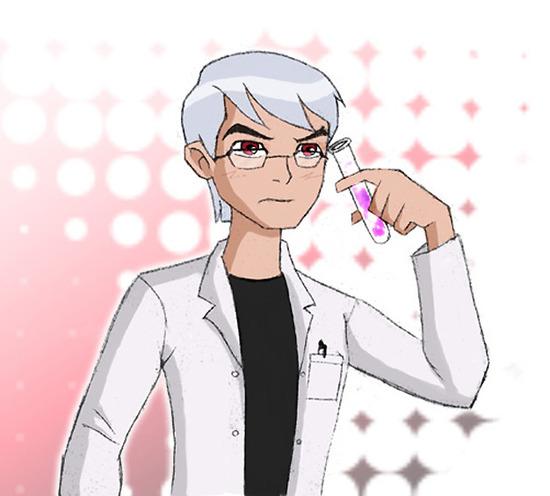 Ben 10- white-haired Brainiac by CheshireP