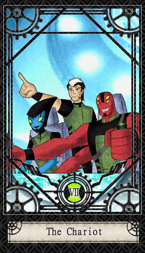 Ben 10 Tarot- 7. The Chariot by CheshireP