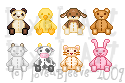 Animal Plush Toy Pixels by loveableeve