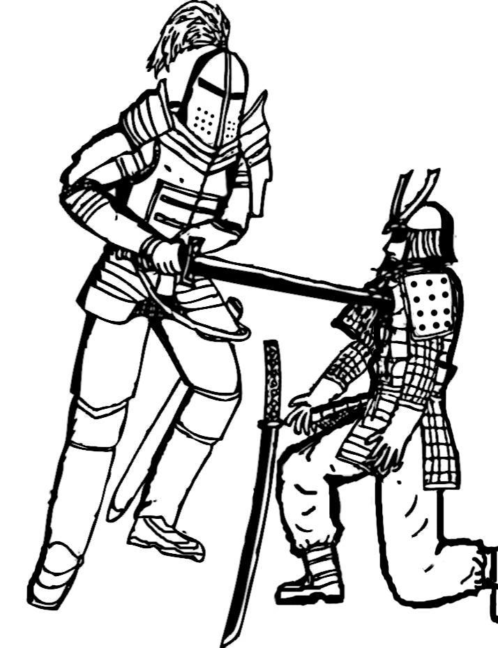 samurai and knights essay Samurai and knights paragraph#1 grabber: feudalism started in both japan and europe at the same time, does that mean that samurai and knights are the same.