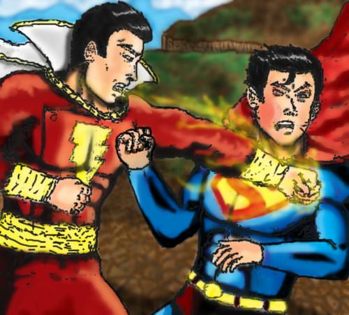 Captain Marvel Vs Superman By ROCatl On DeviantArt