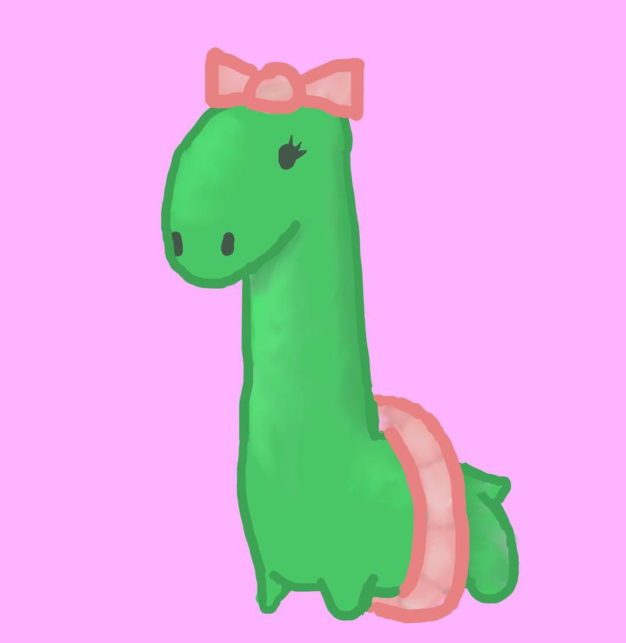 Girly Dinosaur by EuclidOfTheXenons on deviantART