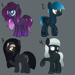 MOON THEME ADOPTS | OPEN 1/4 by MillieDot